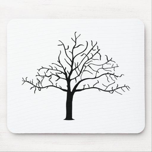 Bare Tree Design Mouse Pad
