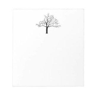 Bare Tree Design Notepad