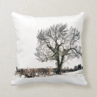 Bare Tree in the Snow Throw Pillow