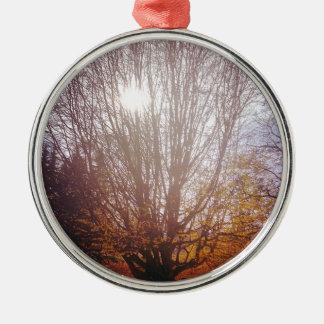 Bare Tree Metal Ornament