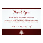 Bare Tree on Deep Red Thank you Card