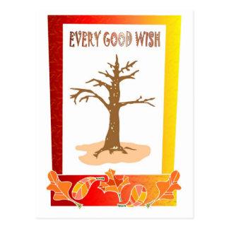 Bare tree postcard