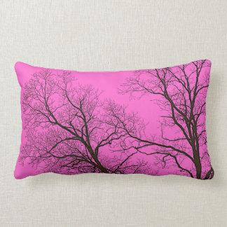 Bare Trees & Fantasy Sky Nature Art Lumbar Pillow