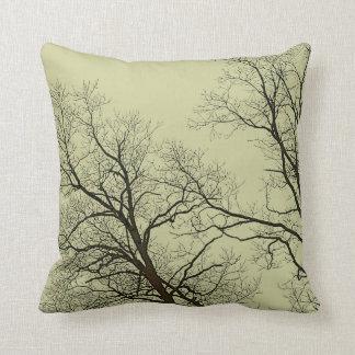 Bare Trees & Fantasy Sky Nature Art Throw Pillow