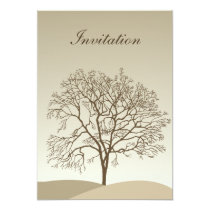 Bare Trees Wedding Card