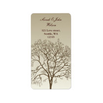 Bare Trees Wedding Label