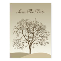 Bare Trees Wedding Postcard