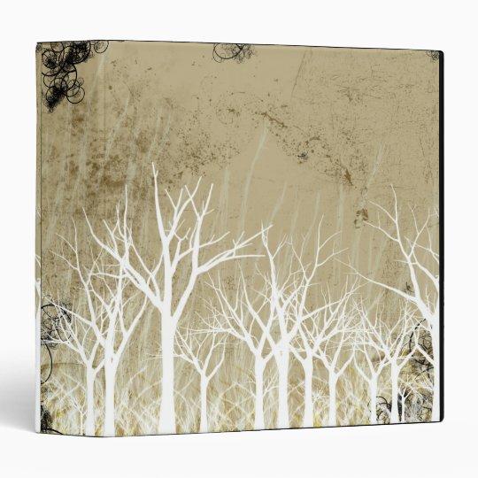 Bare Winter Trees 3 Ring Binder