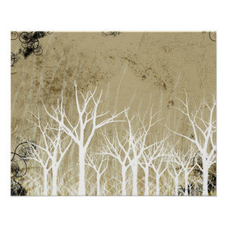 Bare Winter Trees Poster