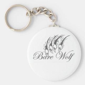 Bare Wolf Keychain