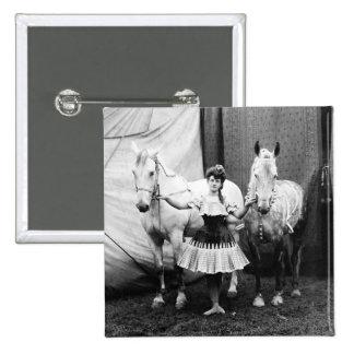 Bareback Girl: 1904 Pinback Buttons