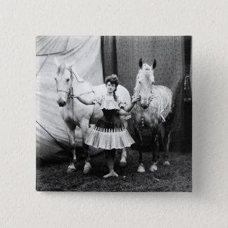 Bareback Girl: 1904 Pinback Button