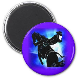 Bareback Ride 202 2 Inch Round Magnet
