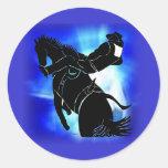 Bareback Ride 202 Round Stickers