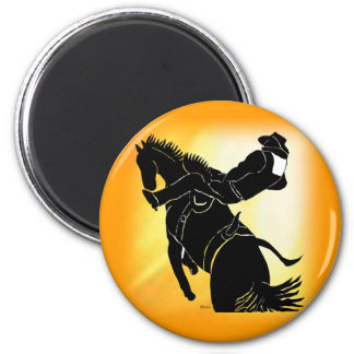 Bareback Ride 203 2 Inch Round Magnet