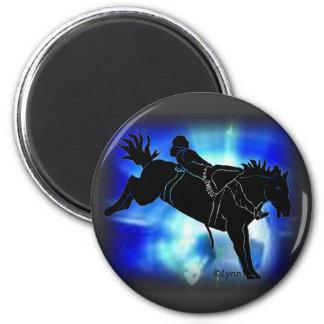 Bareback Rider 301 2 Inch Round Magnet