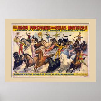 Bareback Riders Circus Poster