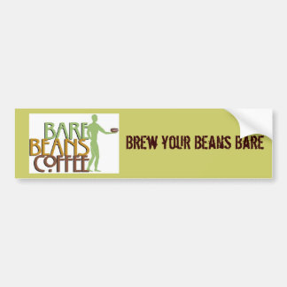 barebeansfinalgreenlogo1107A, Brew your Beans Bare Bumper Sticker