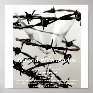 Bared Wire Martini Poster