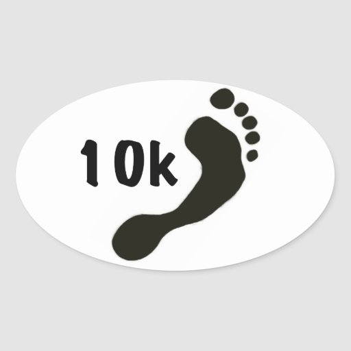 Barefoot 10K Oval Sticker