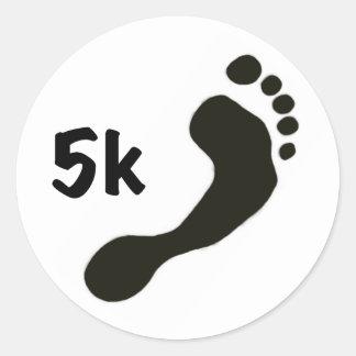Barefoot 5k Sticker