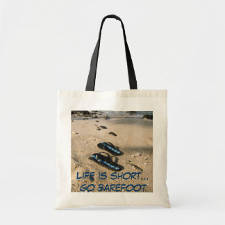 Barefoot  Beach Inspiration Tote Bags
