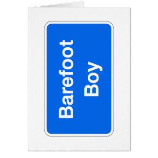 Barefoot Boy, Street Sign, Maryland, US Card