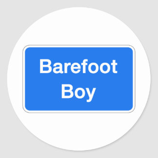 Barefoot Boy, Street Sign, Maryland, US Classic Round Sticker