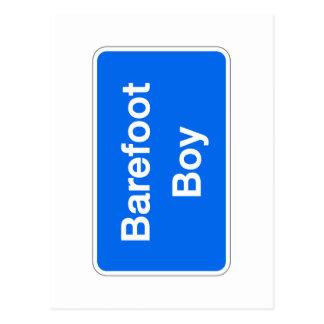 Barefoot Boy, Street Sign, Maryland, US Postcard