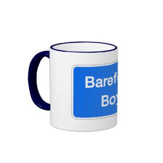 Barefoot Boy, Street Sign, Maryland, US Ringer Mug