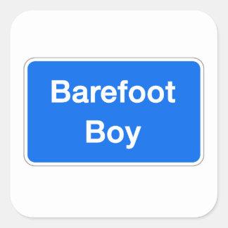 Barefoot Boy, Street Sign, Maryland, US Square Sticker