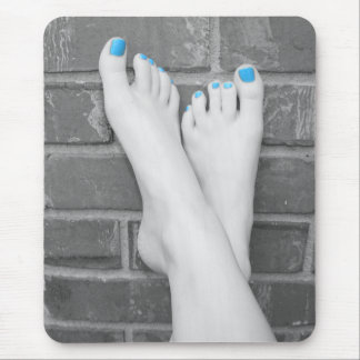 Barefoot Brick Wall Color Isolation Mousepad