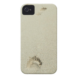 Barefoot footprints on sand iPhone 4 covers