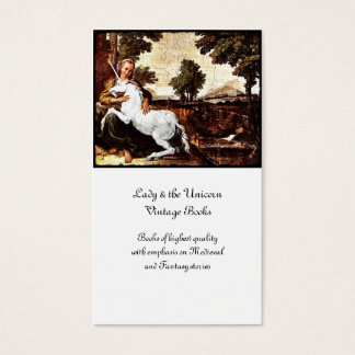 Barefoot Girl and White Unicorn Business Card