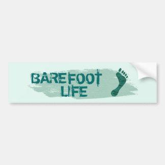 Barefoot Life Bumper Stick Bumper Sticker