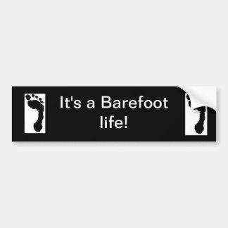 """""""Barefoot Life"""" bumper sticker"""