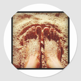 Barefoot lifestyle Photo by Daniela Power Classic Round Sticker