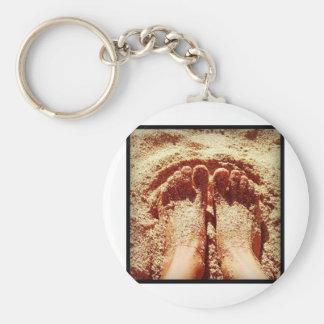 Barefoot lifestyle Photo by Daniela Power Keychain