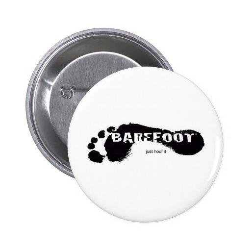 BareFoot Logo Pinback Buttons