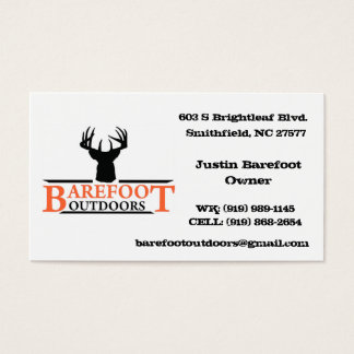 Barefoot Outdoors Business Card