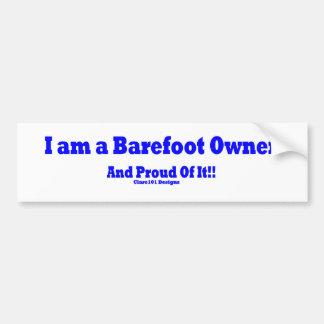 Barefoot Owner Bumper Sticker