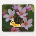 Barefoot Plumeria logo Mouse Pad