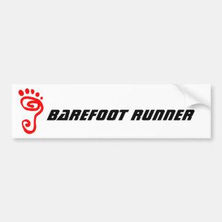 Barefoot Runner Bumper Sticker