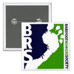 Barefoot Runners Soc Avatar Logo White Foot Square Pinback Buttons