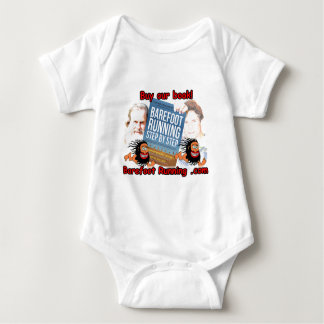 Barefoot Running Step by Step - Buy our Book! Baby Bodysuit