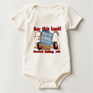 Barefoot Running Step by Step - Buy this Book! Baby Bodysuit
