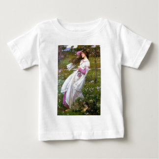 Barefoot Woman in Wind painting Baby T-Shirt