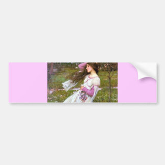 Barefoot Woman in Wind painting Bumper Sticker