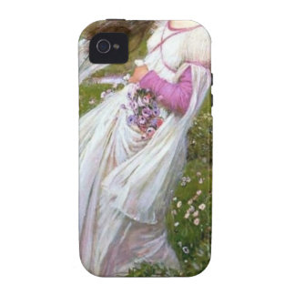 Barefoot Woman in Wind painting iPhone 4 Case