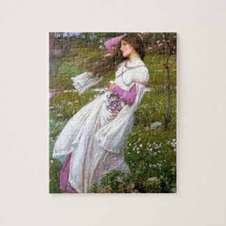 Barefoot Woman in Wind painting Jigsaw Puzzles